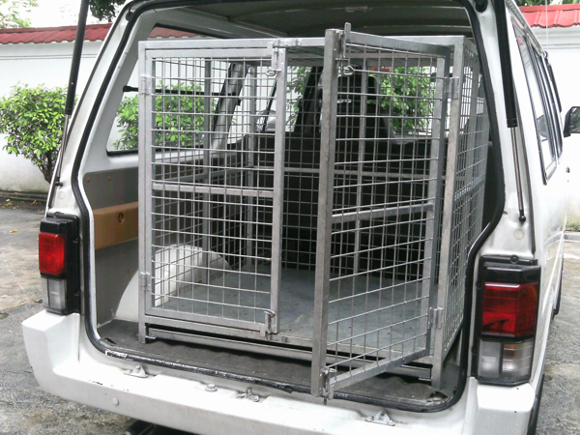 Our specially equipped van if you need help to transport your pet